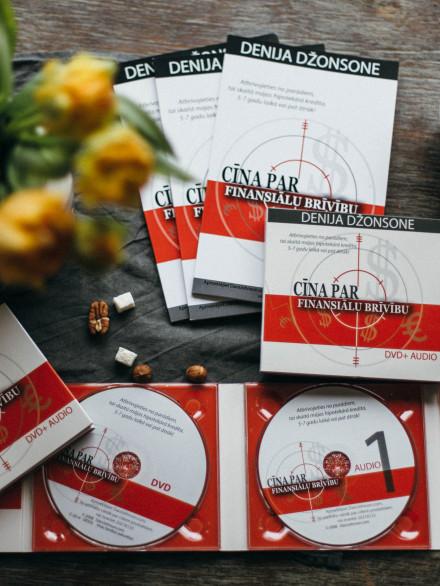 """""""Cīņa par finansiālu brīvību"""" (1 DVD, 2 CD, darba burtnīca,4 online nodarbības)"""